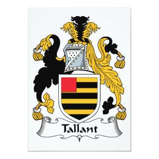 """Escudo de la familia de Tallant Invitación 5"""" X 7"""""""