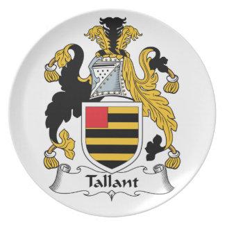 Escudo de la familia de Tallant Plato De Comida