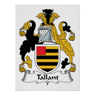 Escudo de la familia de Tallant Póster