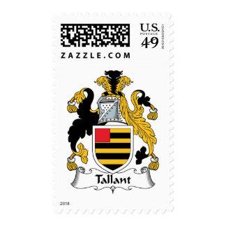 Escudo de la familia de Tallant Sellos Postales