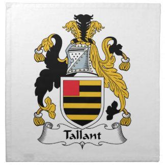 Escudo de la familia de Tallant Servilletas De Papel