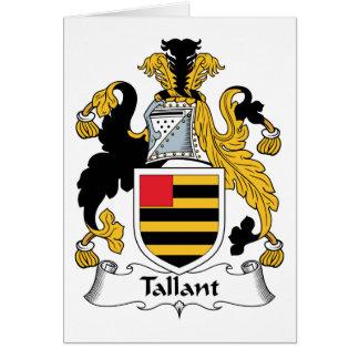 Escudo de la familia de Tallant Tarjeta De Felicitación