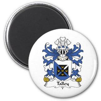 Escudo de la familia de Talley Imán Redondo 5 Cm