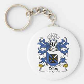 Escudo de la familia de Talley Llavero Redondo Tipo Pin