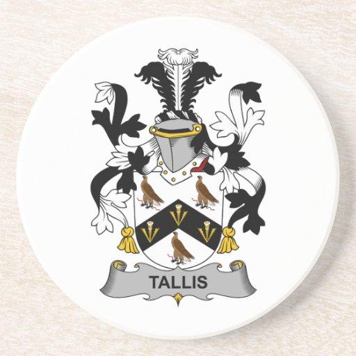 Escudo de la familia de Tallis Posavasos De Arenisca