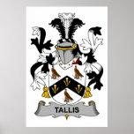 Escudo de la familia de Tallis Poster