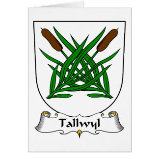 Escudo de la familia de Tallwyl Tarjeta De Felicitación