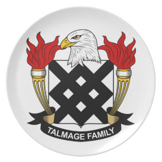 Escudo de la familia de Talmage Plato De Cena