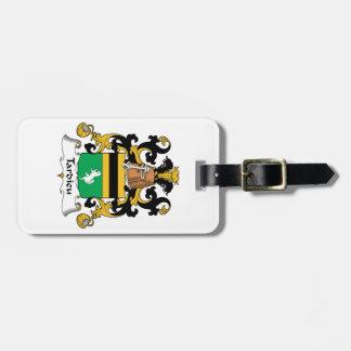 Escudo de la familia de Tardieu Etiqueta De Maleta