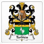 Escudo de la familia de Tardieu Reloj
