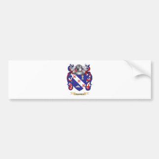 Escudo de la familia de Tarpey (escudo de armas) Pegatina Para Auto