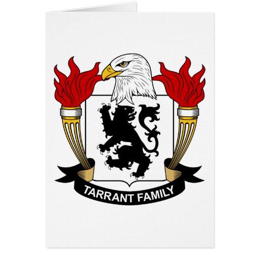 Escudo de la familia de Tarrant Tarjeta De Felicitación