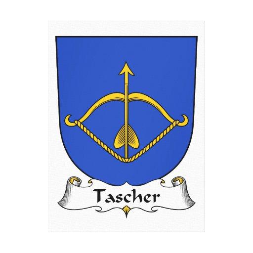 Escudo de la familia de Tascher Lienzo Envuelto Para Galerías