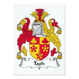 """Escudo de la familia de Tash Invitación 5"""" X 7"""""""