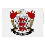 Escudo de la familia de Tasker Felicitacion