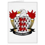 Escudo de la familia de Tasker Felicitación