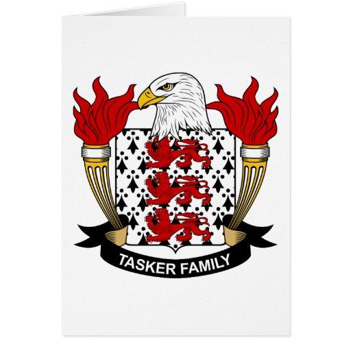 Escudo de la familia de Tasker Felicitaciones