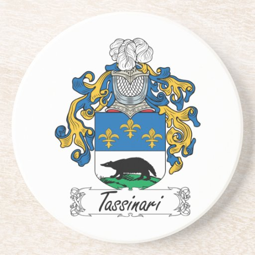 Escudo de la familia de Tassinari Posavasos Cerveza