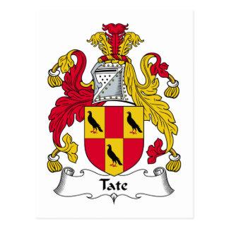 Escudo de la familia de Tate Postales