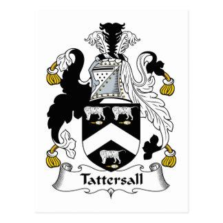 Escudo de la familia de Tattersall Tarjeta Postal