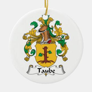 Escudo de la familia de Taube Adorno Navideño Redondo De Cerámica
