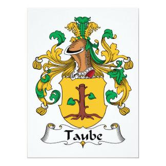 """Escudo de la familia de Taube Invitación 6.5"""" X 8.75"""""""
