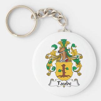 Escudo de la familia de Taube Llavero Redondo Tipo Pin