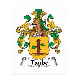 Escudo de la familia de Taube Postal