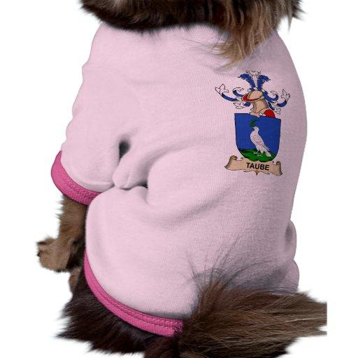 Escudo de la familia de Taube Camiseta Con Mangas Para Perro