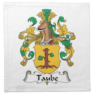 Escudo de la familia de Taube Servilletas