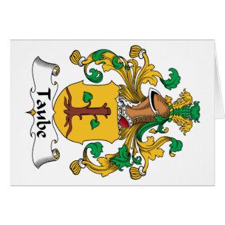 Escudo de la familia de Taube Tarjeta De Felicitación