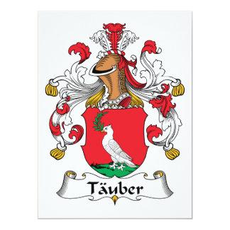 """Escudo de la familia de Tauber Invitación 6.5"""" X 8.75"""""""