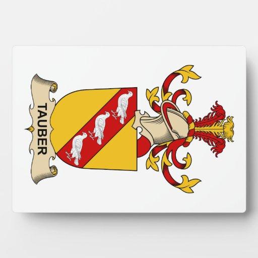 Escudo de la familia de Tauber Placa De Plastico