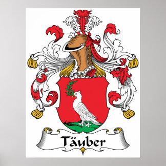 Escudo de la familia de Tauber Póster