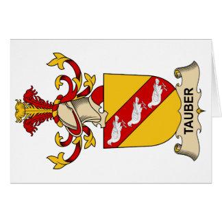 Escudo de la familia de Tauber Tarjeta De Felicitación