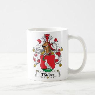 Escudo de la familia de Tauber Tazas De Café