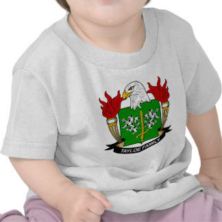Escudo de la familia de Tayloe Camisetas