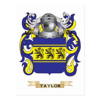 Escudo de la familia de Taylor (escudo de armas) Postal