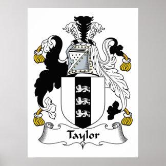 Escudo de la familia de Taylor Póster