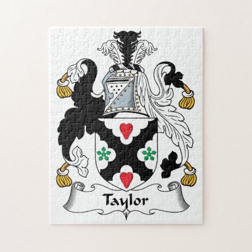 Escudo de la familia de Taylor Rompecabeza Con Fotos