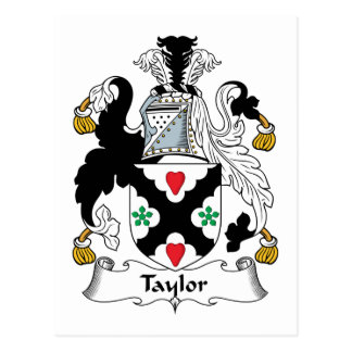 Escudo de la familia de Taylor Tarjeta Postal