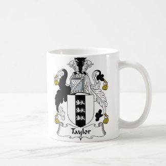 Escudo de la familia de Taylor Taza