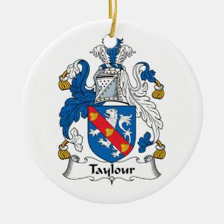 Escudo de la familia de Taylour Adorno Redondo De Cerámica