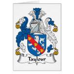 Escudo de la familia de Taylour Felicitacion