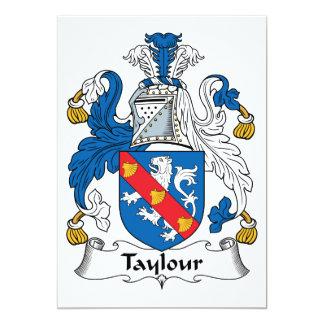 """Escudo de la familia de Taylour Invitación 5"""" X 7"""""""