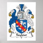 Escudo de la familia de Taylour Poster
