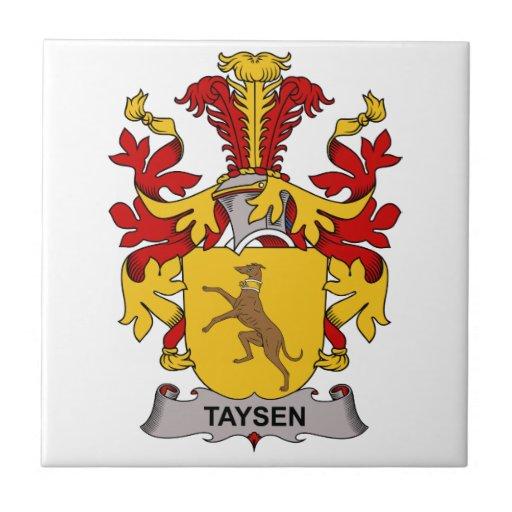 Escudo de la familia de Taysen Azulejo Cuadrado Pequeño