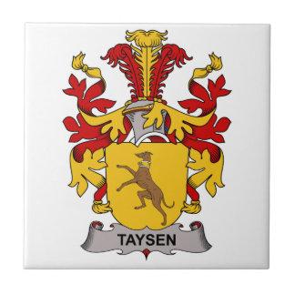 Escudo de la familia de Taysen Azulejo Cerámica