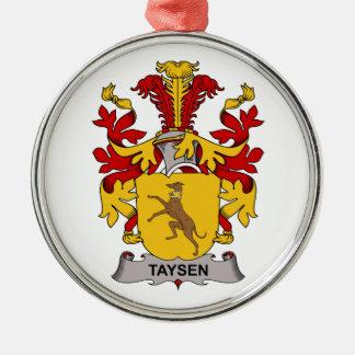 Escudo de la familia de Taysen Adorno Redondo Plateado