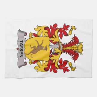 Escudo de la familia de Taysen Toallas De Mano